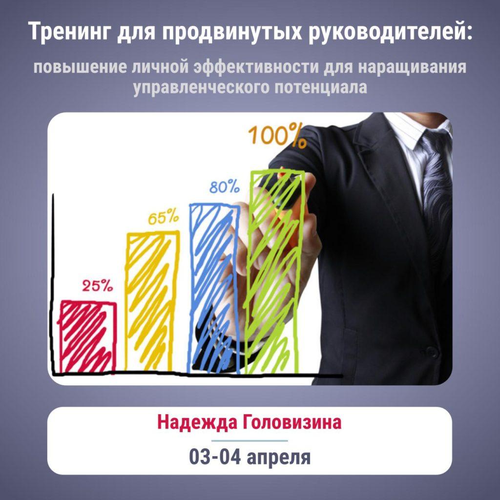 Тренинг для продвинутых руководителей: повышение личной эффективности для наращивания управленческого потенциала